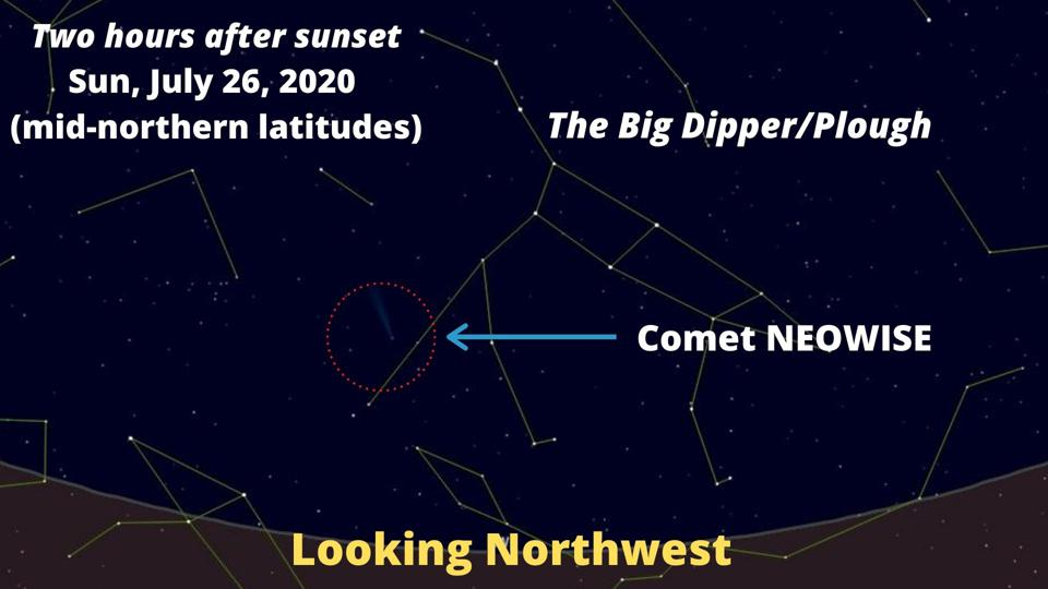 How to find Comet NEOWISE on Sunday, July 26, 2020.