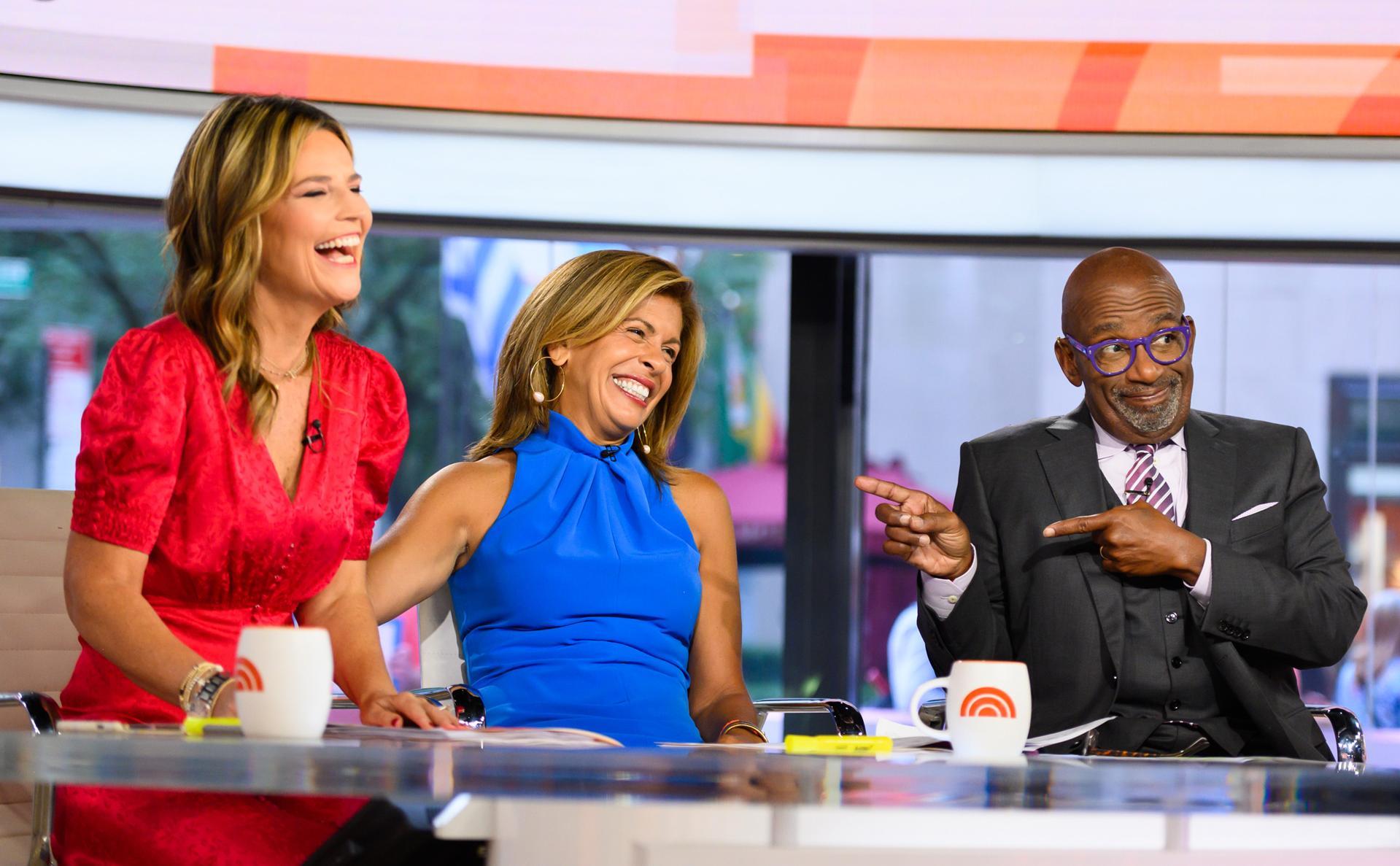 Savannah Guthrie, Hoda Kotb and Al Roker on the Today Show.