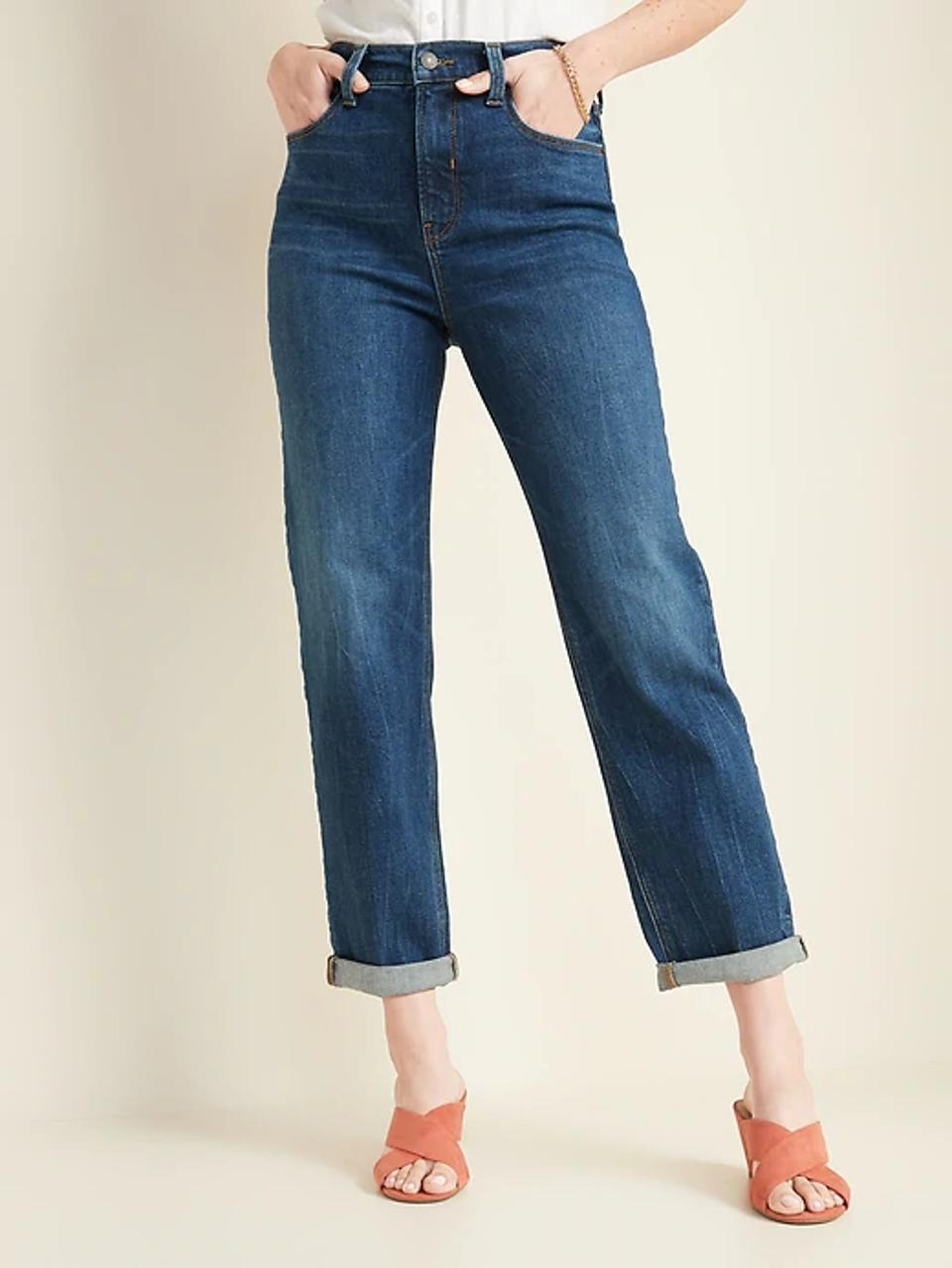 Old Navy Extra High-Waisted Boyfriend Straight Jeans