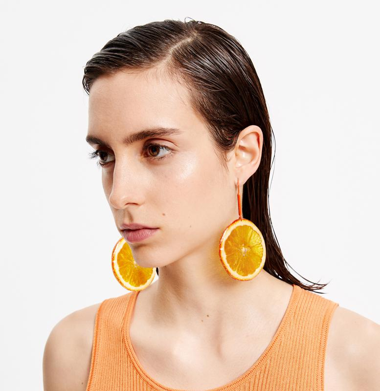 Asymmetric Fresh Fruit Earrings by Bimba Y Lola: