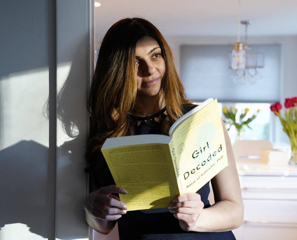 Rana el Kaliouby reading her book