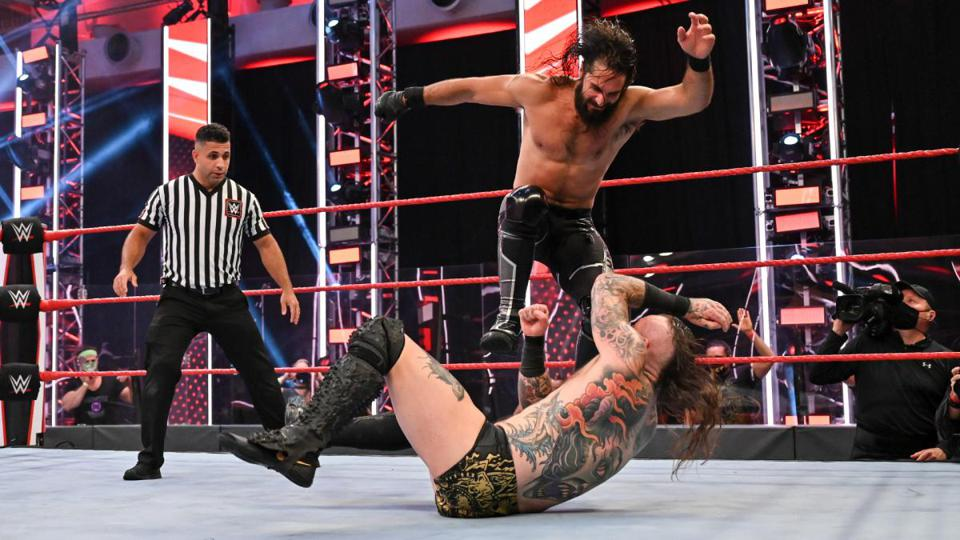 Aleister Black suffered a loss to Seth Rollins Monday night on Raw.