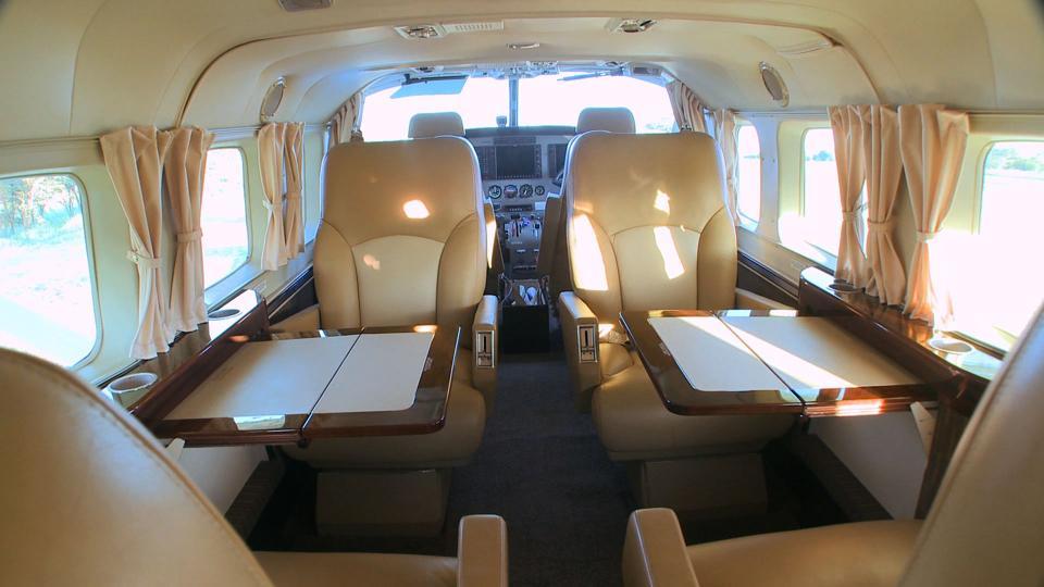 interior of Cessna plane