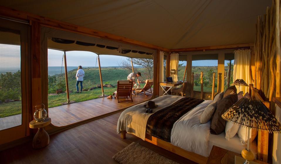 Loisaba tented camp bedroom