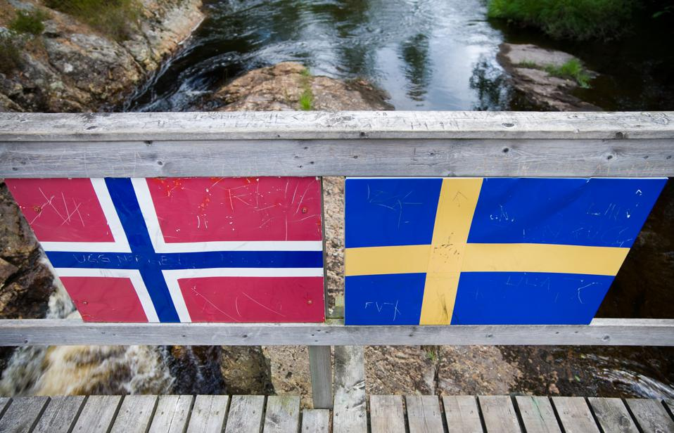 The border between Norway and Sweden