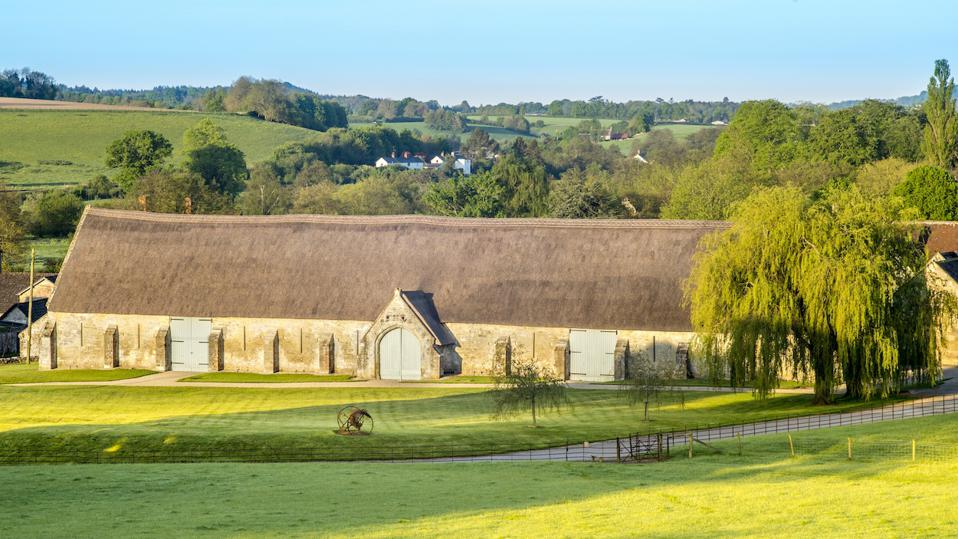 A tithe barn in Wiltshire