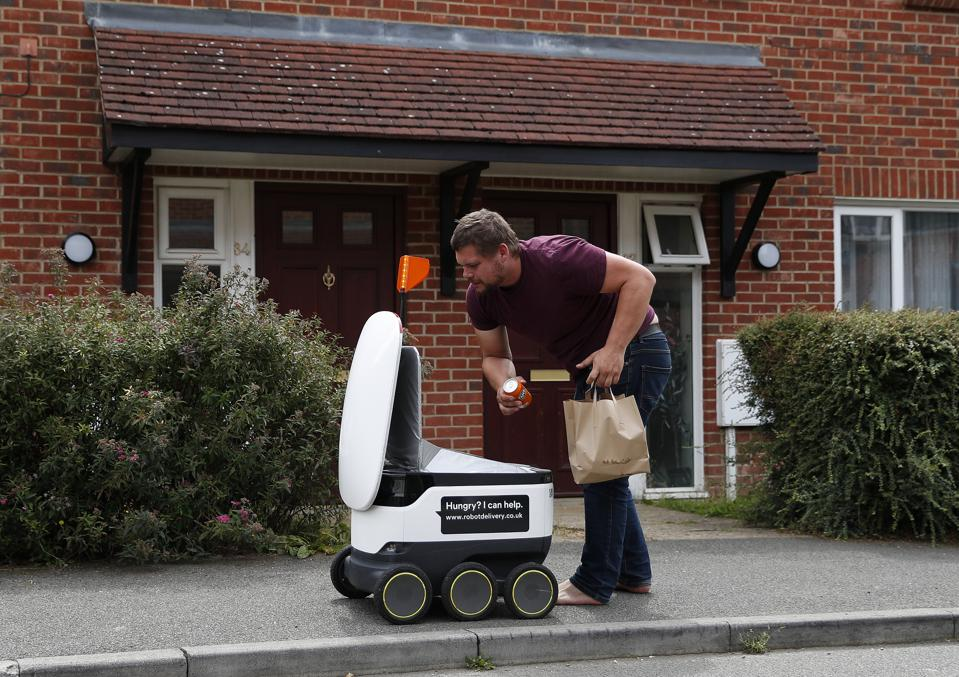 The Labour Leader Discusses Technological Innovations During Lockdown At Robot Food Delivery Company