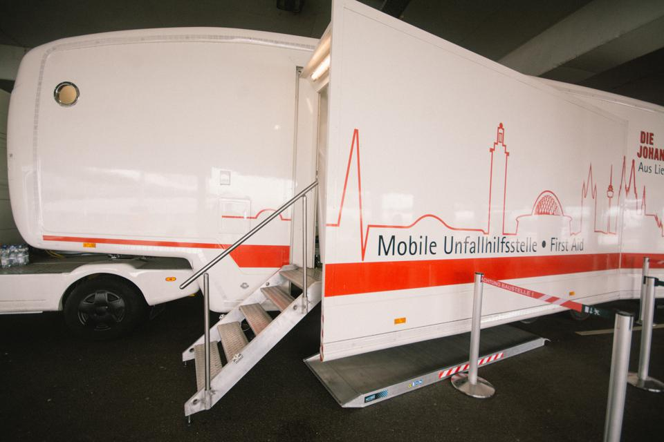 Mobile Corona Testing Centre At Cologne Bonn Airport Germany for traveler tests