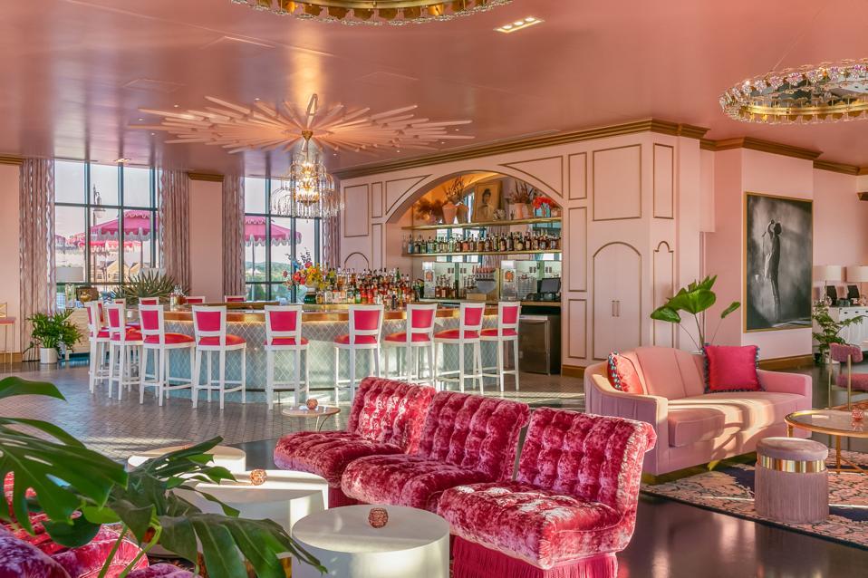 A pink on pink bar in Nashville