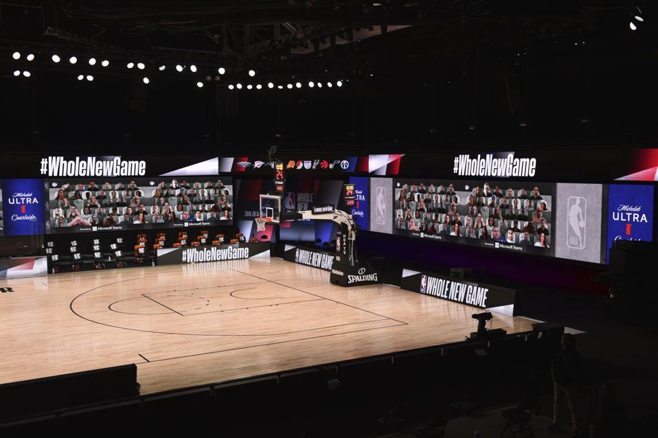 NBA restart arena technology