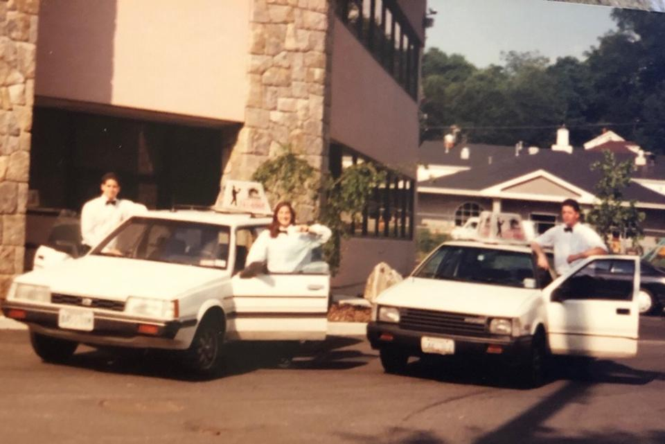 In 1991, Black Tie Express 3rd party delivery drivers had high image standards.