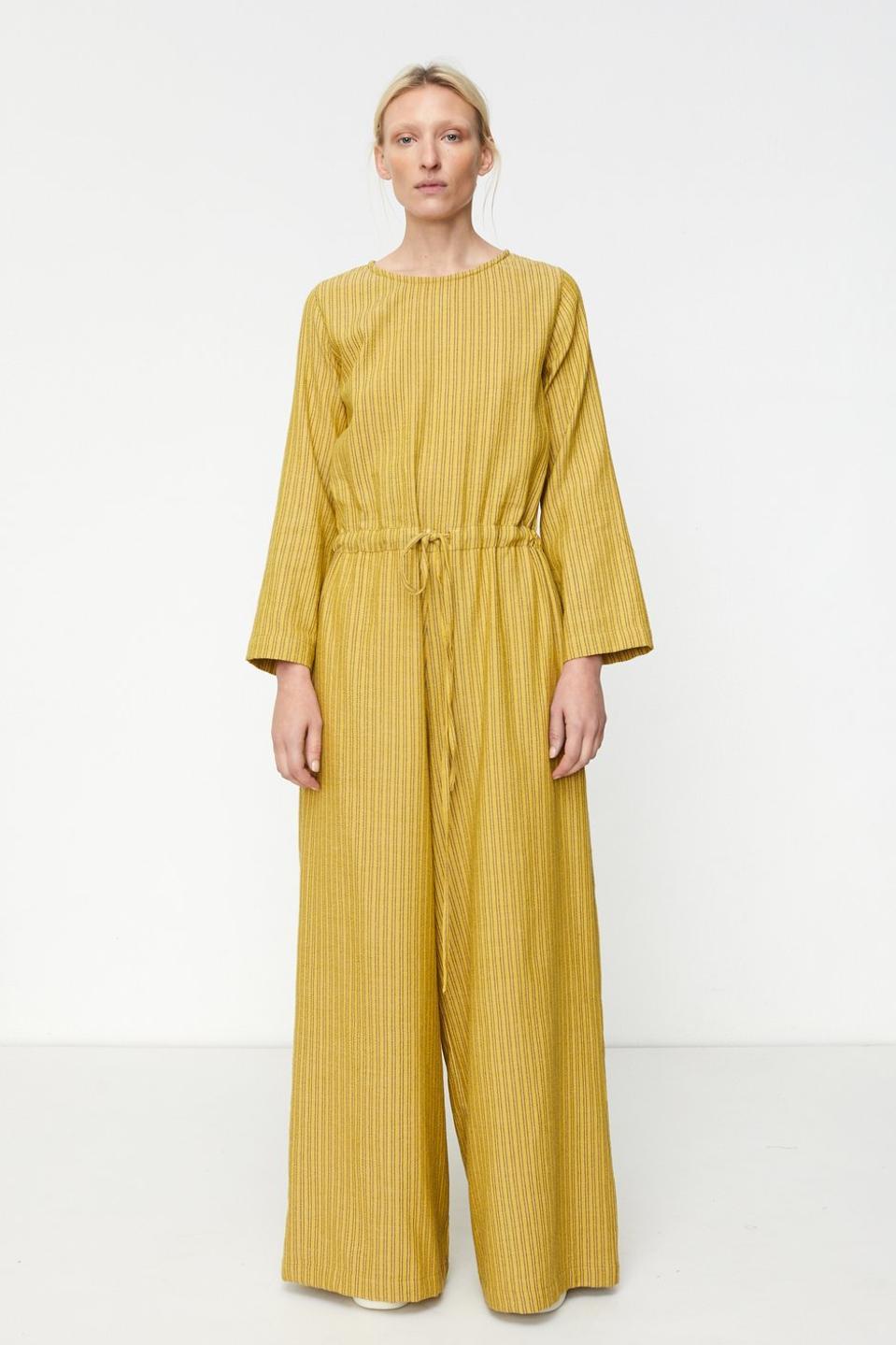 Marrakshi Life Round Collar Wide Leg Jumpsuit