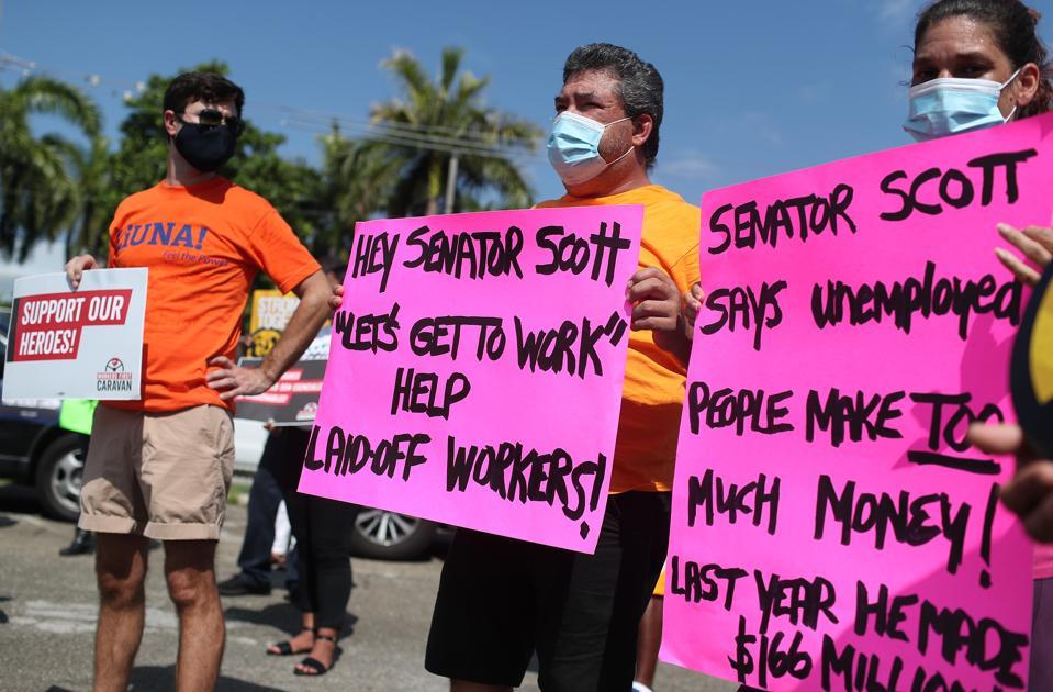 Workers Caravan In Florida Calls On US Senate To Extend Unemployment Benefits