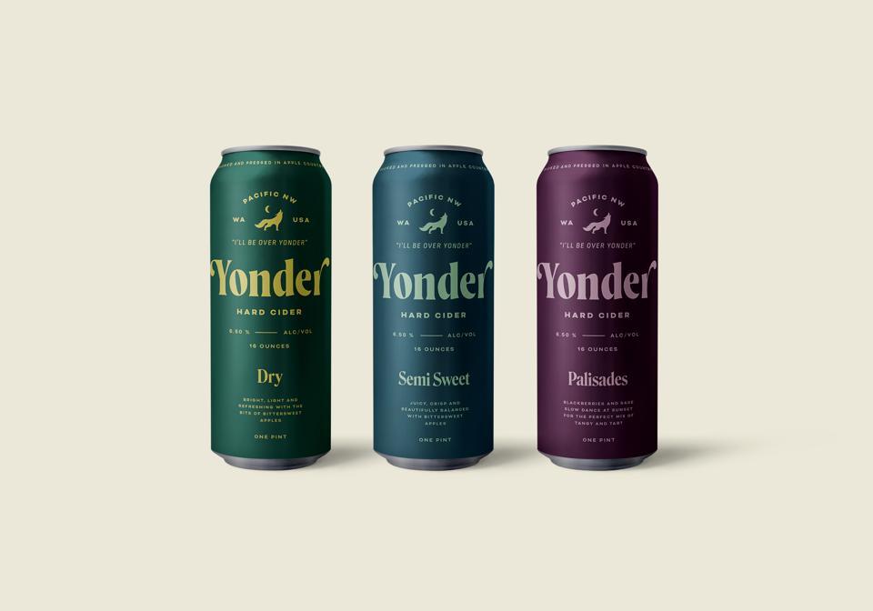 3 varieties of Yonder Cider