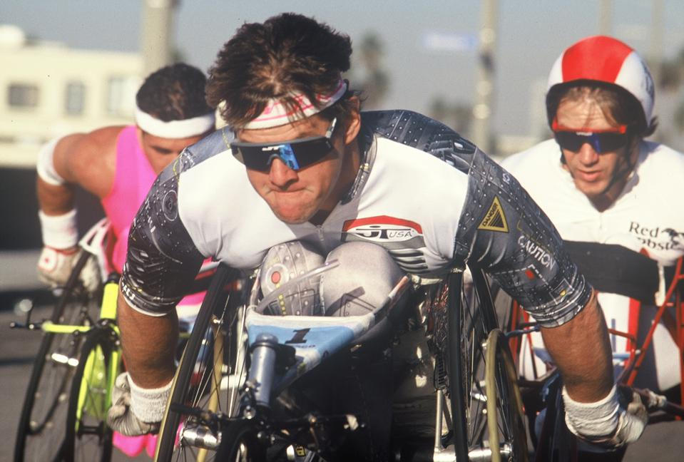Record-breaking wheelchair athlete Jim Knaub was at the ADA signing 30 years ago today.