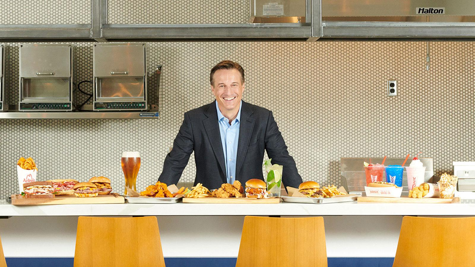 Paul Brown got his first test at revitalizing a tired menu while CEO of Arby's, and in his first three years, sales increased 16% to $3.6 billion, while the average restaurant's revenue increased 25% to $1.1 million annually.