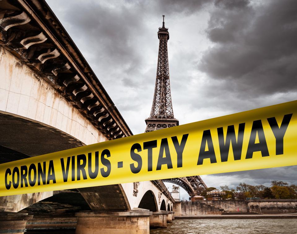 corona virus quarantine in Paris