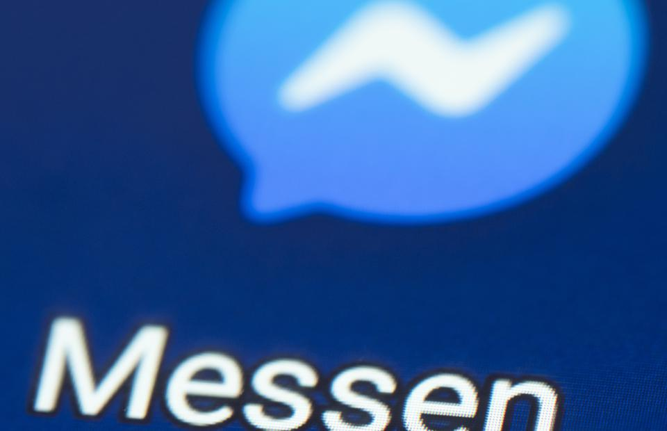 In this photo illustration a Facebook Messenger icon is seen...