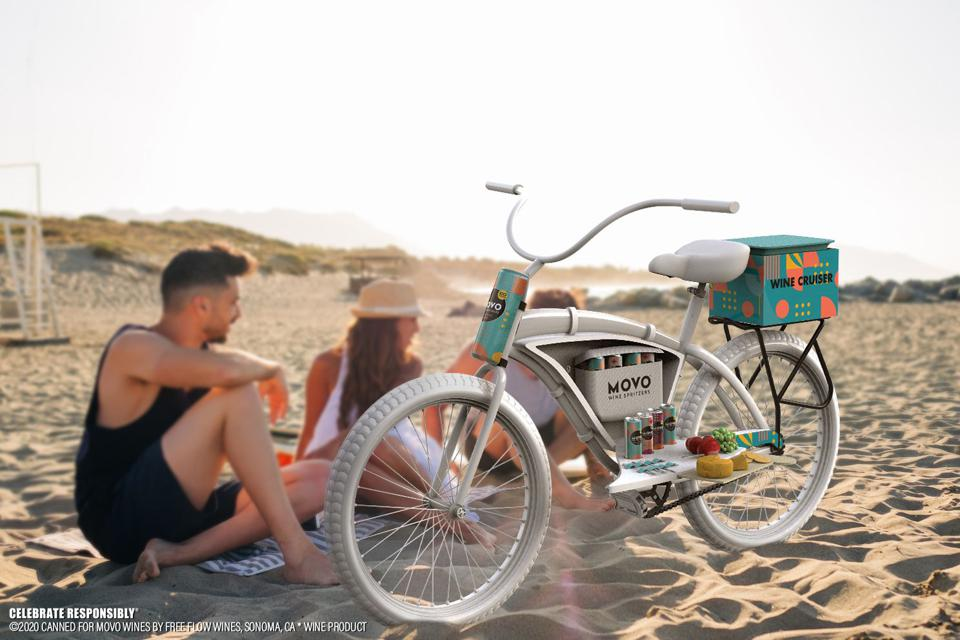 Four custom bikes with built-in wine coolers are only being sold today.