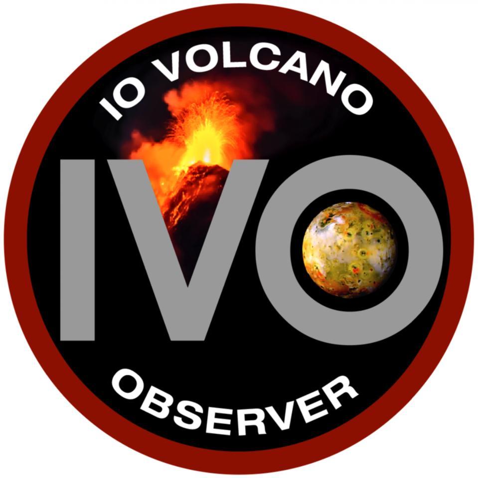 The Io Volcano Observer, or IVO, logo.