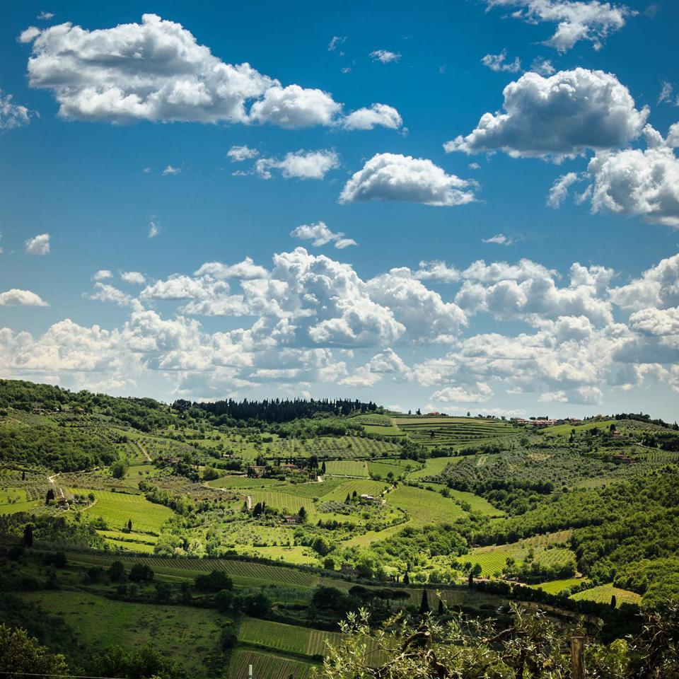 View of Greve in Chianti, Tuscany, Italy