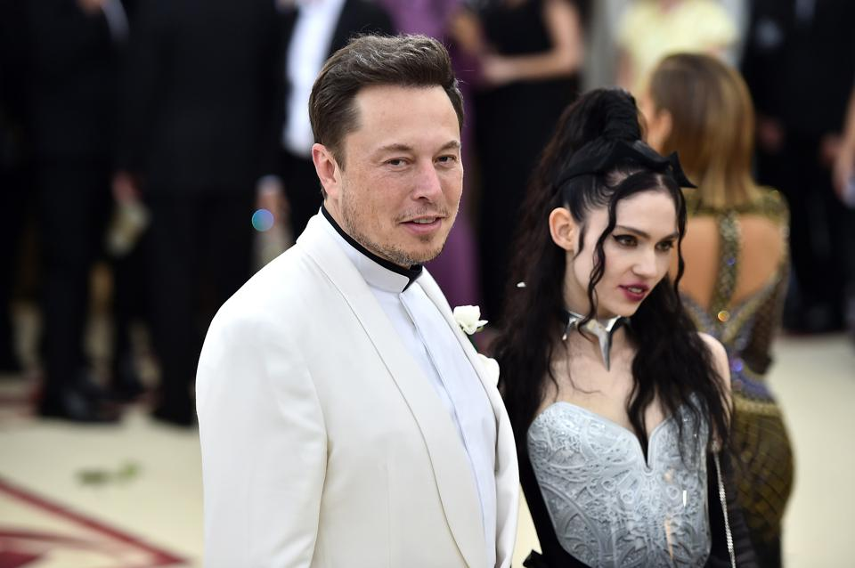 Elon Musk and Grimes attend the Heavenly Bodies: Fashion & The Catholic Imagination Costume Institute Gal