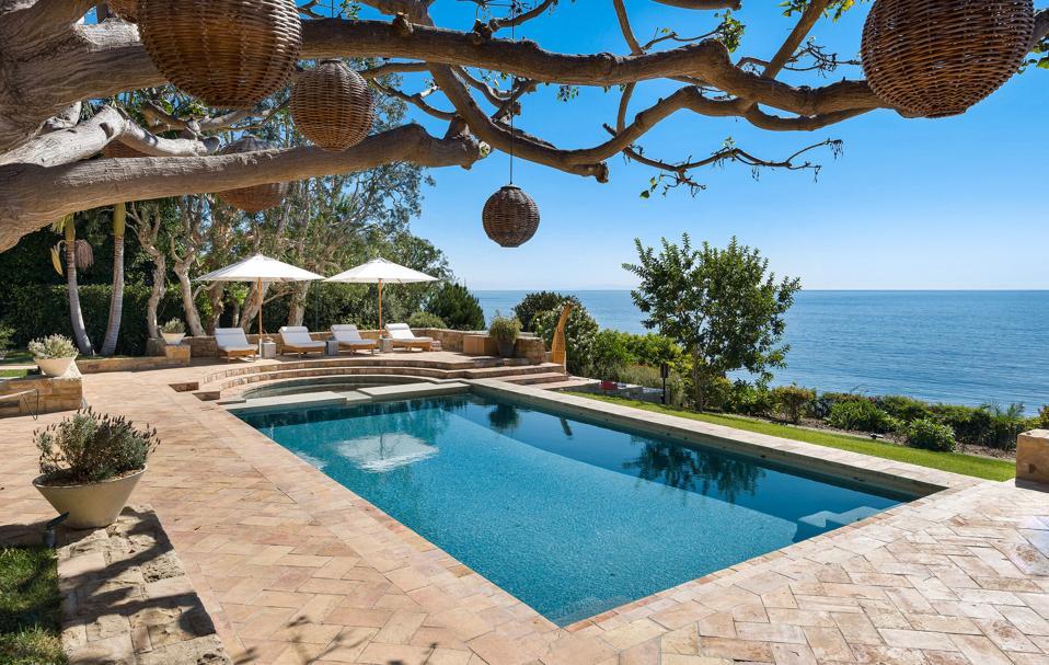 Pool views at Diana Jenkins $125 million dollar estate