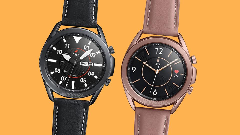 Rendering dello smartwatch Samsung Galaxy Watch 3.