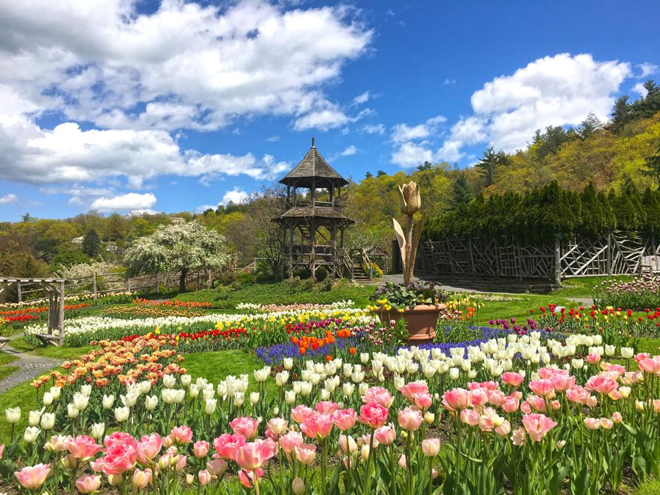 The gardens at the Mohonk Mountain House.