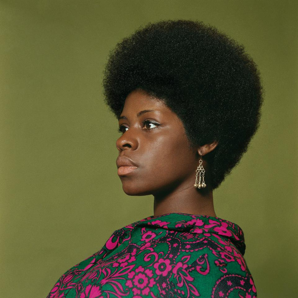 Kwame Brathwaite, ″Sikolo Brathwaite,″ African Jazz-Art Society & Studios (AJASS), Harlem, ca. 1968; from Kwame Brathwaite:Black Is Beautiful (Aperture, 2019) .