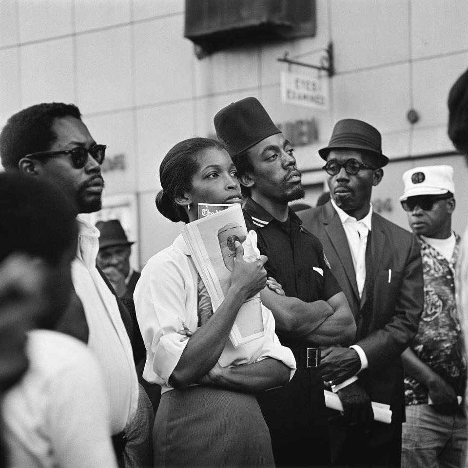 Kwame Brathwaite, ″Marcus Garvey Day Parade, Harlem,″ ca. 1967; from Kwame Brathwaite:Black Is Beautiful (Aperture, 2019).