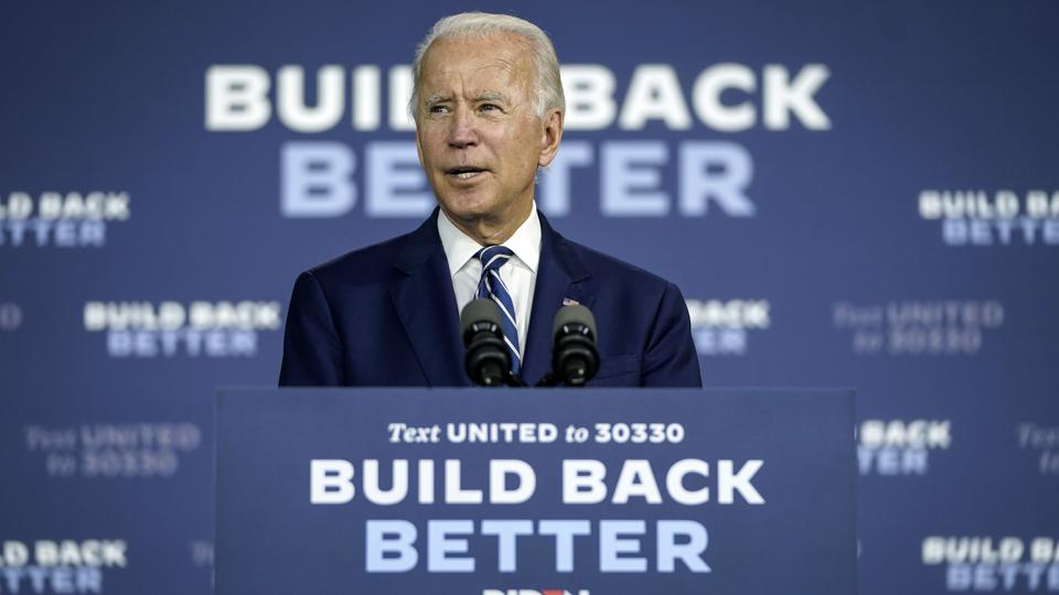 Democratic Presidential Candidate Joe Biden Speaks On His Economic Recovery Plan in Delaware