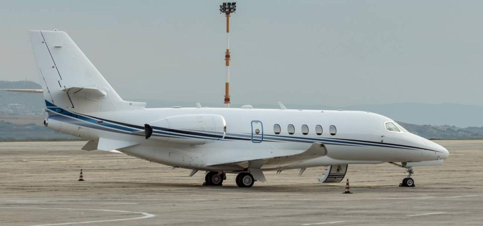 A private plane chartered by ACS