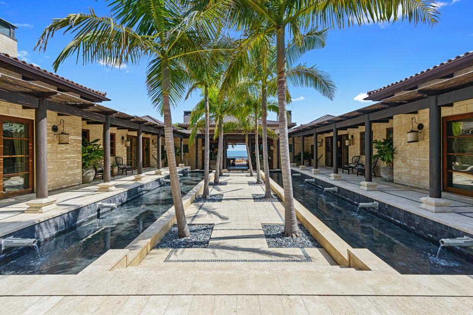 Bali-inspired oceanfront mansion