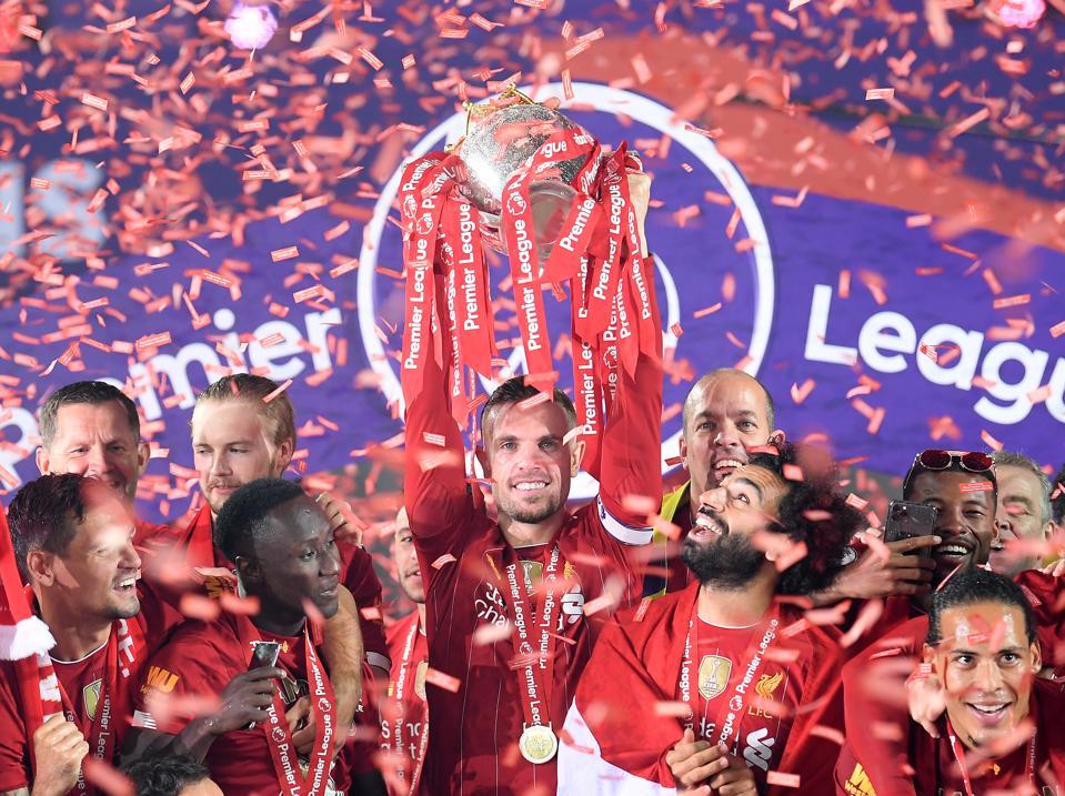 Liverpool FC, win Premier League title.