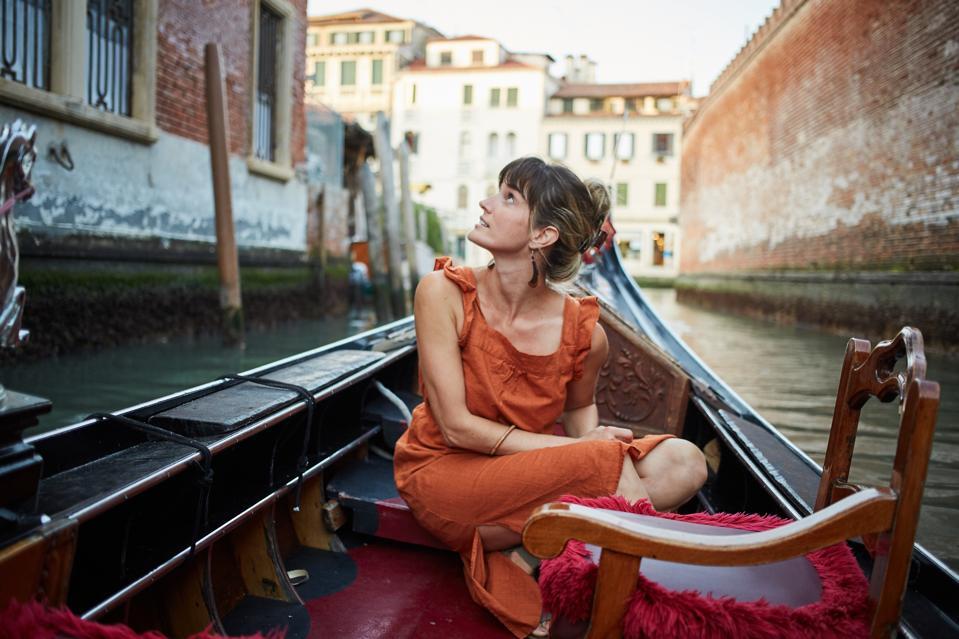 Woman in a gondola