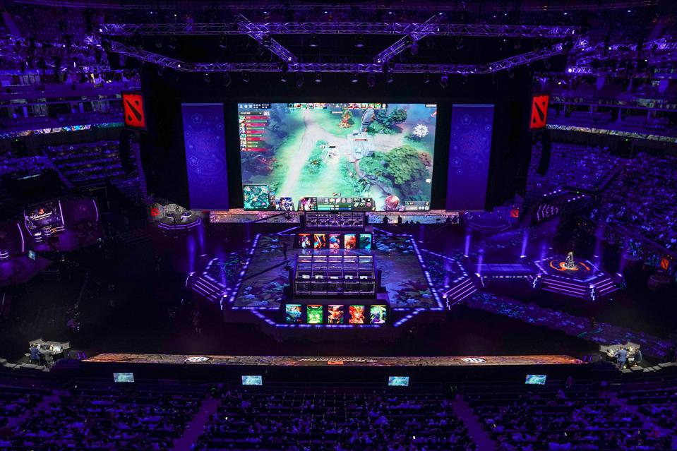 The stage at The International 9.