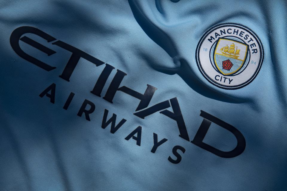 Manchester City Club Crest and Etihad Airways