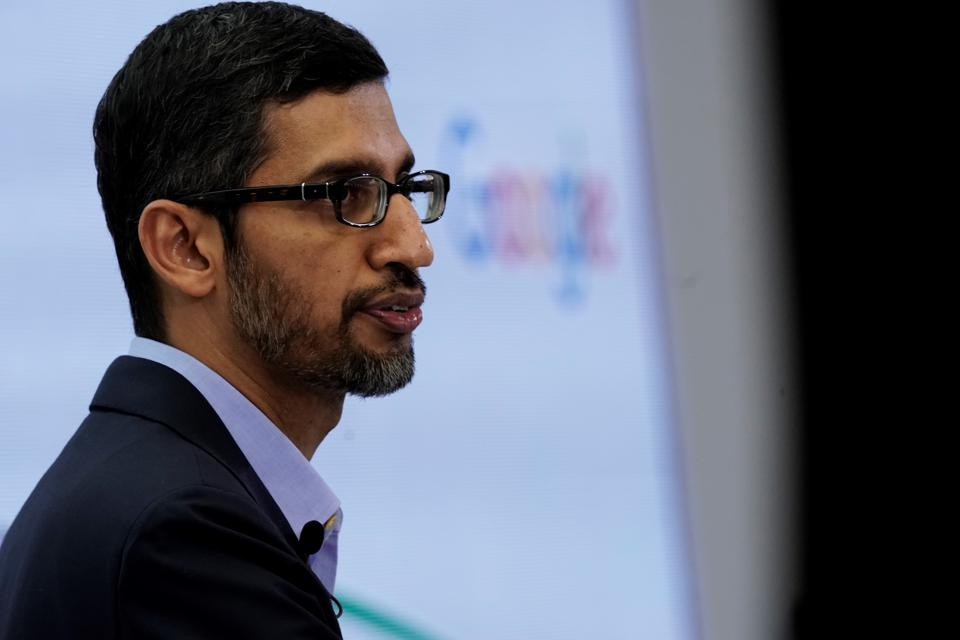 SUNDAR PICHAI, Google, remote workers, work from home, stimulus relief, essential workers