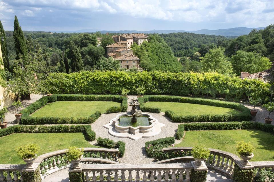 The idyllic gardens of Il Borro