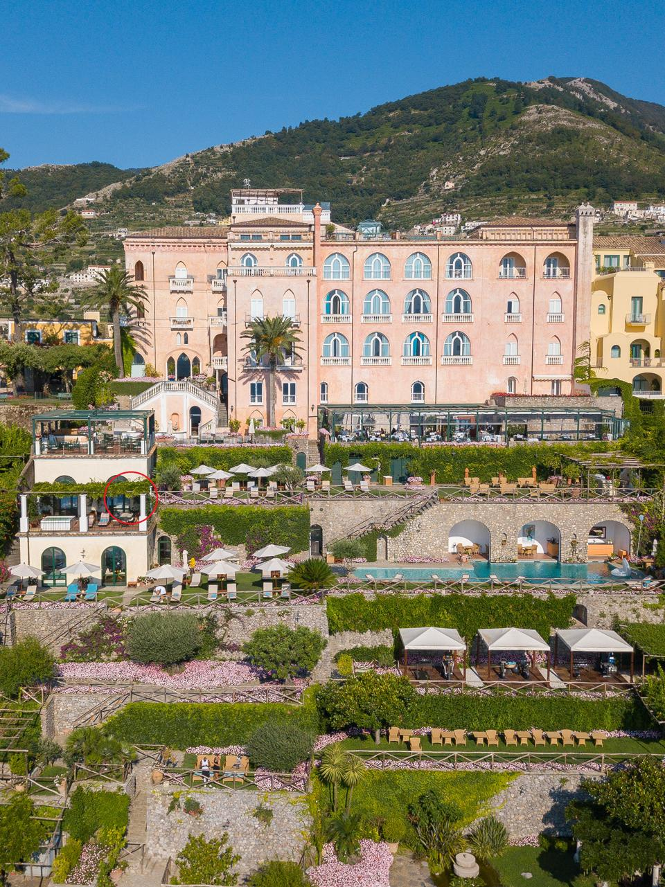 Palazzo Avino, also known as The Pink Palace in Ravello on the Amalfi Coast
