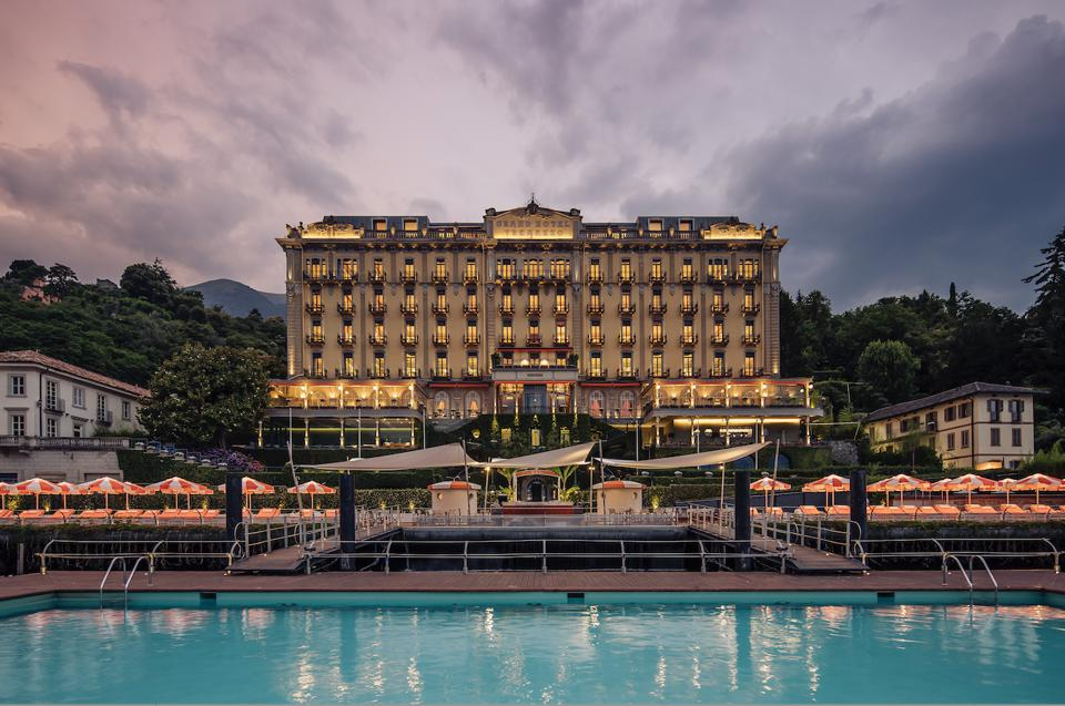 Grand Hotel Tremezzo at night