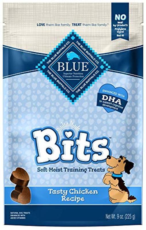 Blue Buffalo BLUE Bits Gâteries naturelles pour chien de dressage à humidité douce, recette de poulet, sac de 9 oz