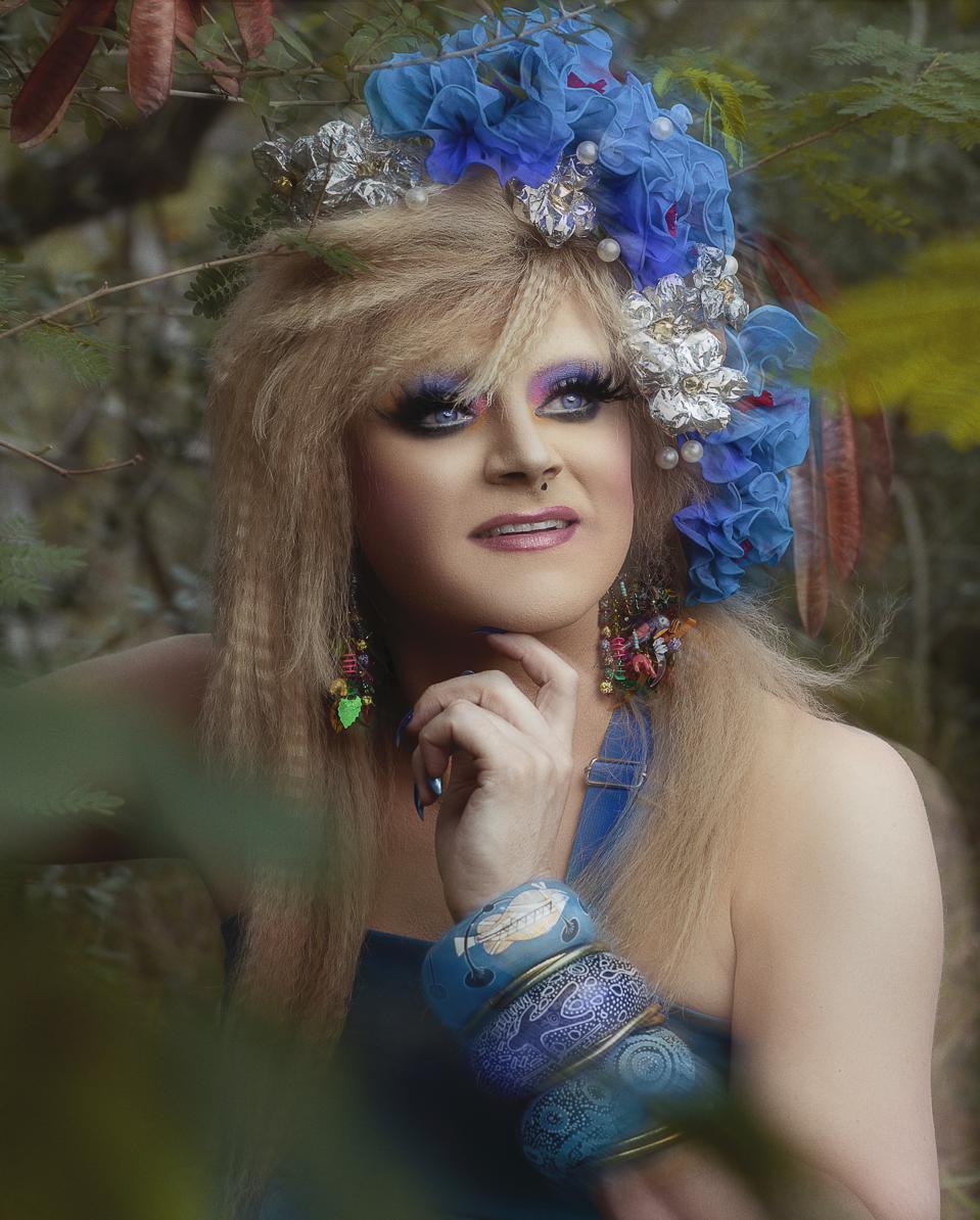 drag queen in nature