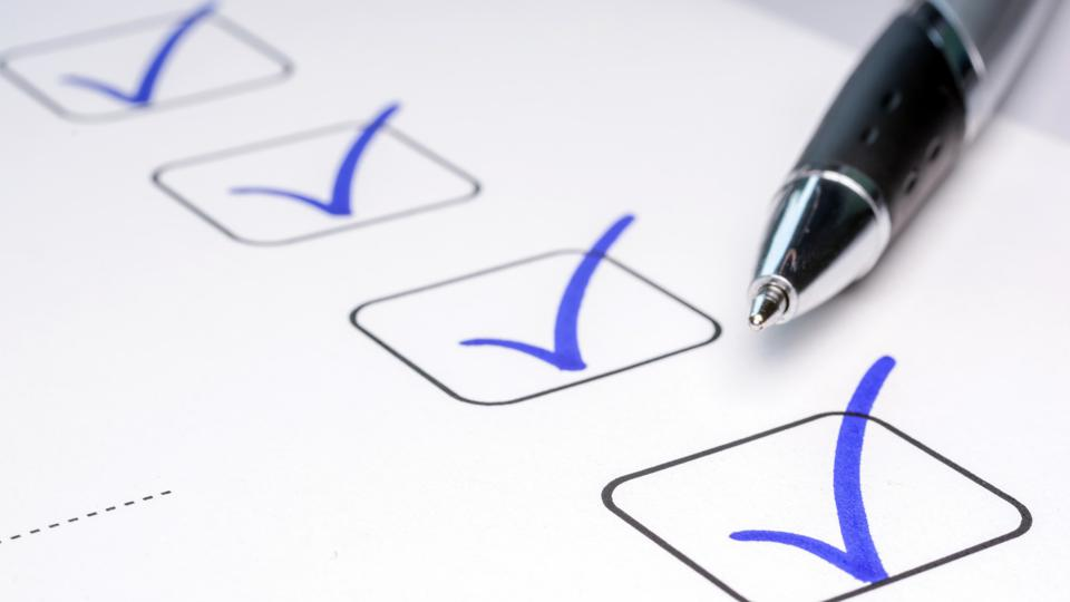Check off completed tasks on a to-do list