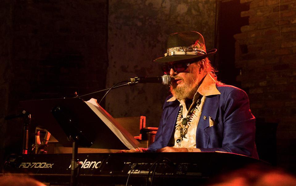 Dr. John playing at NoLa Jazz Fest