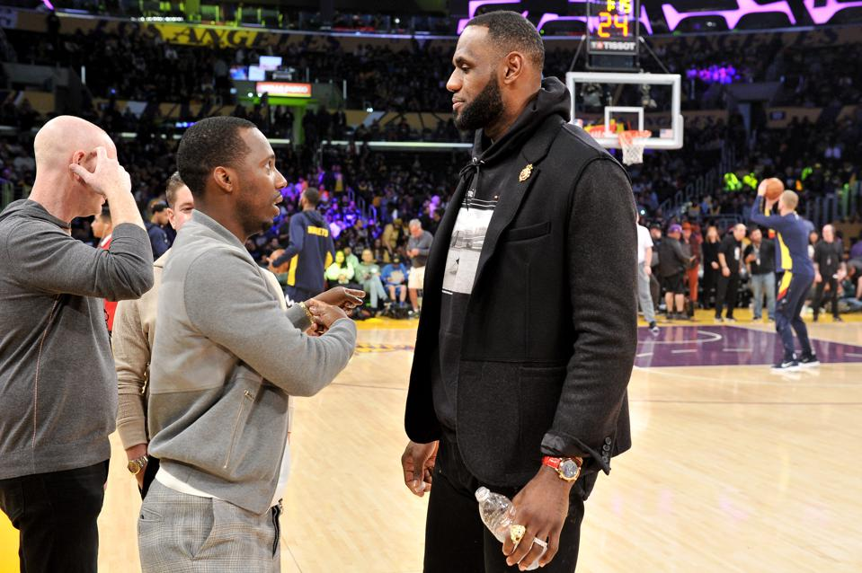 Rich Paul LeBron James Los Angeles Lakers game