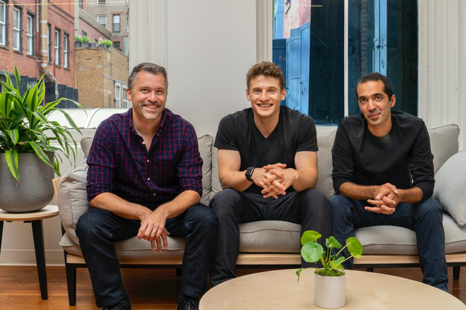 Ro cofounders Rob Schutz, Zachariah Reitano and Saman Rahmanian.
