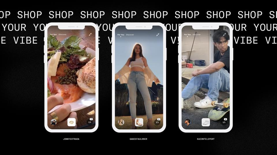 A snapshot of Teleport, the shoppable video app.