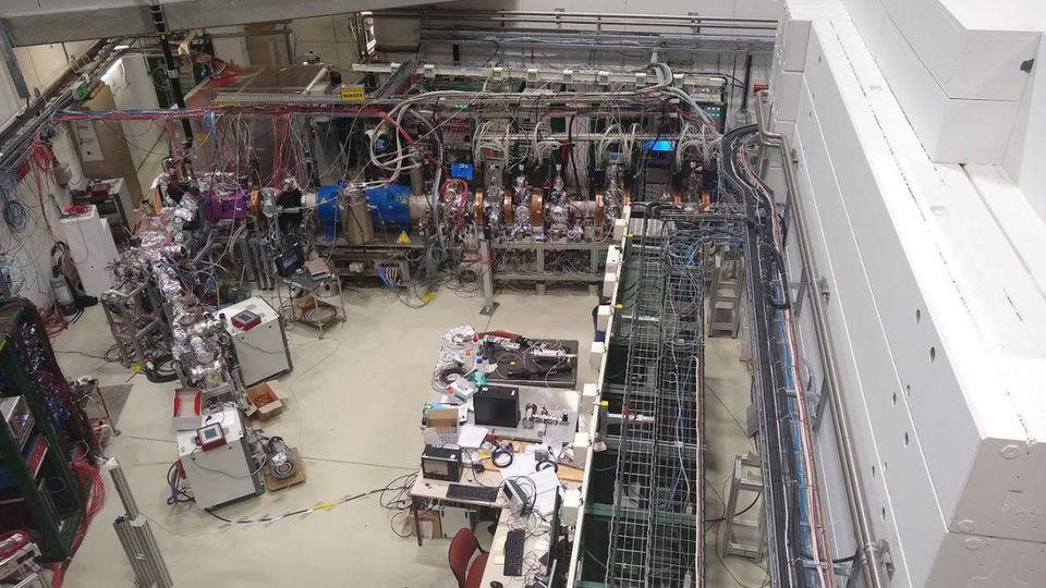 Photograph of the antimatter factory at CERN.